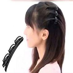 Fashion Practical Women Double Hair Pin Clips Barrette Comb Hairpin Hair Disk GT