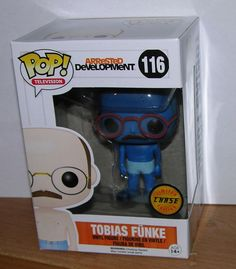 FUNKO POP BLUE TOBIAS FUNKE LIMITED CHASE EDITION ARRESTED DEVELOPMENT RARE  #FUNKO
