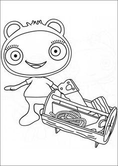 Waybuloo Fargelegging for barn. Tegninger for utskrift og fargelegging nº 5