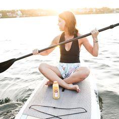 Just #Paddleboarding with some fresh Orange Juice! #natalies #florida #citrus #fitness