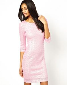 TFNC Long Sleeve Pink Sequin Dress