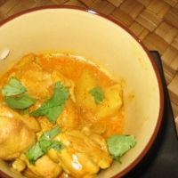 Yellow Chicken Curry with Potatoes. I wonder if this is as good as getting it at the Thai restaurant...