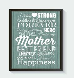Mothers Day Subway Style Print on Wood Background Holiday Trending Digital  DOWNLOAD