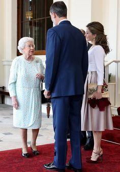 Queen Letizia and King Felipe visit England - 14 Jul 2017