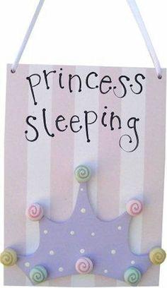 Princess Sleeping Door Hanger