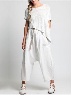 Cotton-Linen Oversize with Open-Work Rustic by LURDES BERGADA