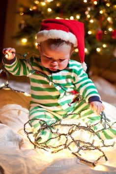 5. Put up Tons of #Lights - 7 Fun Things to do for Baby's #First Christmas ... → #Parenting [ more at http://parenting.allwomenstalk.com ]  #Tradition #Fun #Stocking #Pajamas #Footie