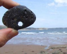 Hag Stone - Sacred, Powerful, Magickal - The Gypsy Thread Wiccan, Magick, Witchcraft, Invisible Creature, Hag Stones, Lucky Stone, Native American Artifacts, Sea Witch, Cool Rocks