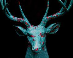 Artwork by Jennifer Khoshbin -    Deer Trophy Project  Ferdinand'sFriend Division Four and Twenty   Dressed Pests  BigBad