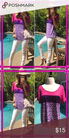 ☀️Seal☀️ Brand new vibrant summer top, full of glitter n shine!. I love this, grab it- Wet Seal Tops