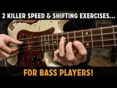 2 Killer Speed & Shifting Exercises For Bass Players (L - Online Bass Lessons Bass Guitar Scales, Bass Guitar Chords, Learn Bass Guitar, Bass Guitar Lessons, Guitar Tips, Maserati, Guitar Classes, Guitar Sheet Music, Double Bass