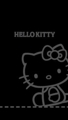 Group Of Hello Kitty Wallpaper Black Gray