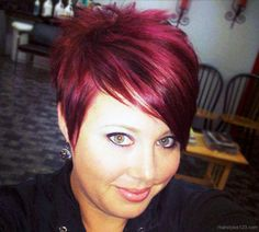 Funky Red Pixie Hairstyle