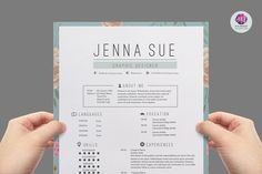 Modern resume template by Chic templates on @creativemarket