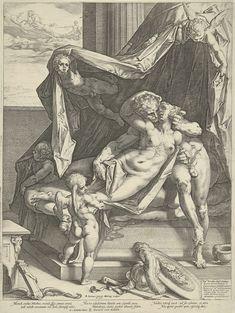 Mars en Venus, Hendrick Goltzius, Gerard van Keulen, Octavio Spinola II, 1588 (rm)