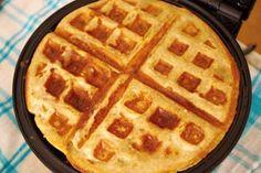 Jak připravit zdravé banánovo-ovesné vafle Bon Appetit, Fitness, Food And Drink, Low Carb, Healthy, Breakfast, Sweet, Recipes, Craft