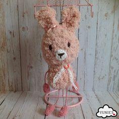 Crochet amigurumi : Fluffy Rabbit Amigurumi by Yunies on Etsy