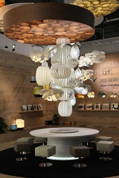 LZF STAND Milano 2013. #WoodLighting #WoodLamps #LZF #design