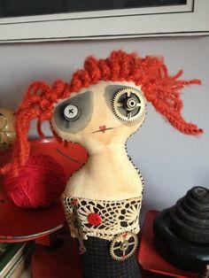 Little Miss Monday Art Doll via Etsy