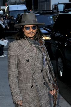 Johnny Depp Leaves the 'Late Show with David Letterman' in NYC  2/21/13