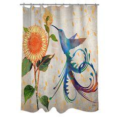 Thumbprintz Daisy Hum Neutral Shower Curtain