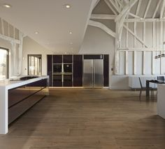 Floor kitchen: porcelain tiles wood effect - ROOT collection by Ceramiche Caesar