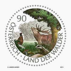 Stamp - Country of forests - commemorative block by Austria