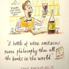 #fransgroenewaldart #funandquirkyart #winelovers #louispasteur #phylosophyinwine
