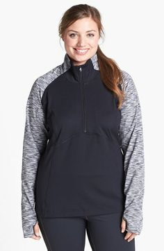 Moving Comfort 'Foxie' Half Zip Top (Plus Size) available at #Nordstrom