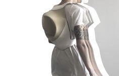 Bag. Backpack. Design. White. Architecture. Ideas. Objet