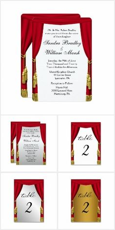 Theater Stage Wedding Invitation Suite