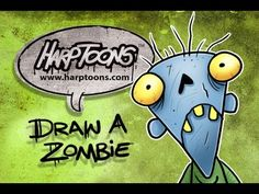 Learn how to draw a zombie with the letter V the download the FREE book here: http://www.harptoons.com/zombie_drawing_new_1.html