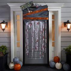 Décoration de porte de style zombie