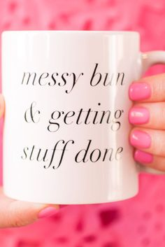Messy Bun Mug – charm & gumption                                                                                                                                                      More