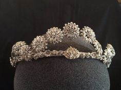 Vintage tiara - vintage marcasite bridal headpiece - Art deco headpiece - bridal headdress - Downton Abbey tiara - Royal wedding tiara