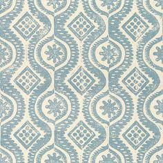 Damask in Blue from Lee Jofa (@Kravet) #fabric #linen #blue
