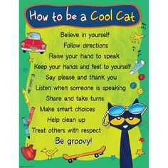 PETE THE CAT TO BE COOL CAT CHART