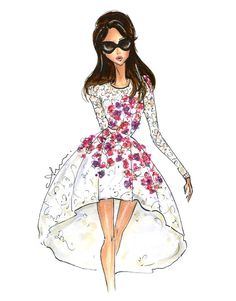 Fashion Illustration Print, Giambattista Valli