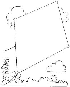 Kite coloring pages. Kite coloring pages will take the kids getting high up into the sky by the bright colors. Especially they often play the kite at yard or