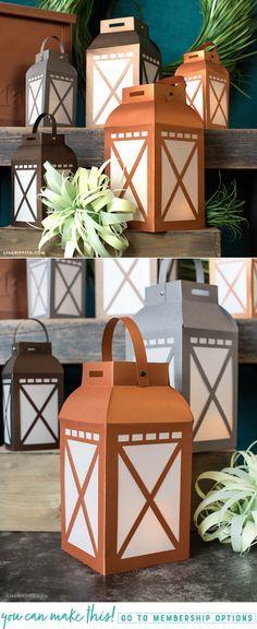 DIY Paper Garden Lanterns - www.LiaGriffith.com - #papercut #paperlantern #cricutmade #cricutmaker #cricut #diyFall #FallDIY #PartyDIY #DIYParty #DIYPartyDecorations
