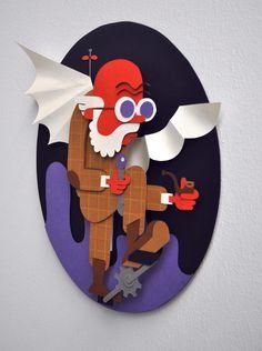 Jan Werkt  Paper Craft Art Illustration