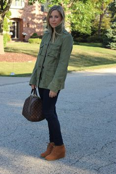 military inspired jacket and booties
