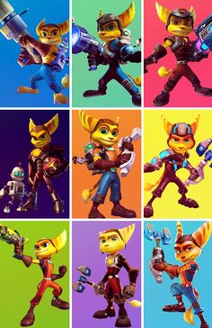 Ratchet & Clank through the years | I will always remember how he first looked like,and now plus the movie. What a change 。^‿^。