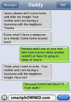 Oh, shit dad!! - SmartphOWNED