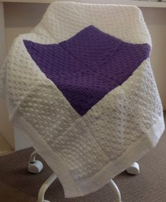 Handmade Squares Knitted Baby Blanket on Etsy, $35.00 AUD