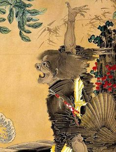 """Chinese Immortals"" by Soga Shohaku, 1760s - detail of screen"