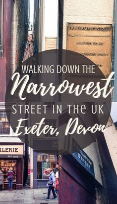 Parliament Street in Exeter, Devon, England, UK: a walk down the narrowest lane in England!