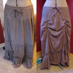 DIY Steampunk skirt. LOVE IT! Now to find a skirt long enough for me!