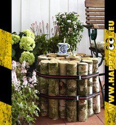 063 - Tavolo da giardino: Un'idea per un tavolo da giardino composto da tronchi.