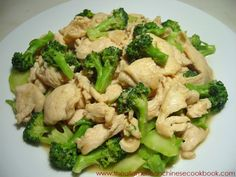 Chinese Chicken with Broccoli...It's how I get them to eat more broccoli.